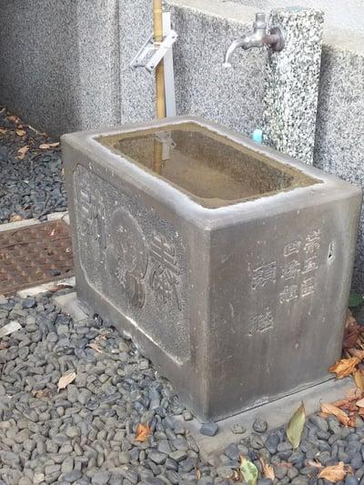 東京都道引長太郎地蔵尊の手水