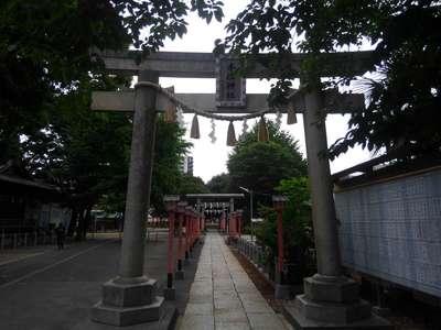 東京都千住神社の鳥居