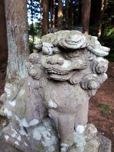 岩手県久須志神社の狛犬