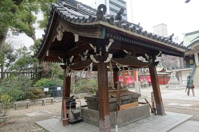 難波神社の手水