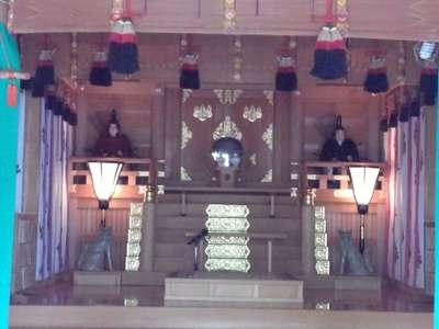 岐阜県橿森神社の本殿