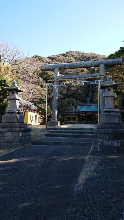 千葉県洲崎神社の鳥居