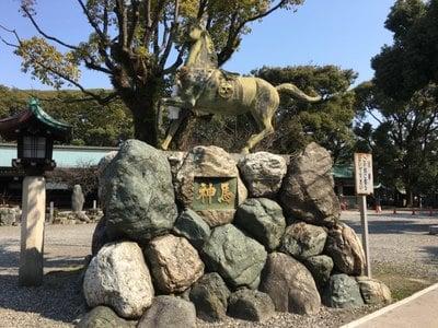 真清田神社(愛知県名鉄一宮駅) - 狛犬の写真