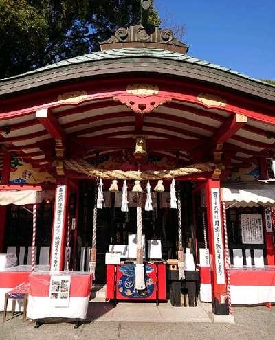 熊本県熊本城稲荷神社の本殿
