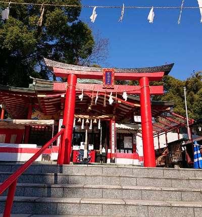 熊本県熊本城稲荷神社の鳥居