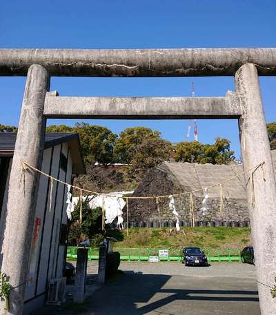 熊本県熊本大神宮の鳥居