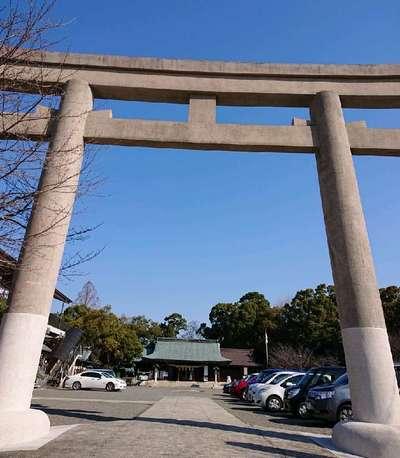 熊本県熊本県護国神社の鳥居