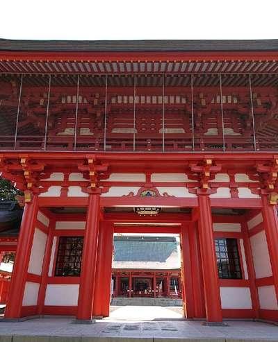 熊本県藤崎八旛宮の山門
