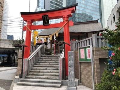 東京都日比谷神社の鳥居