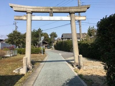 愛知県白山社の鳥居