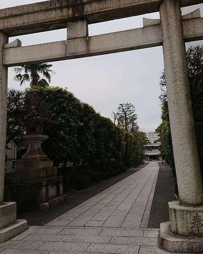 東京都六郷神社の鳥居