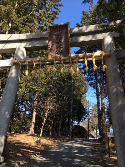 冨士御室浅間神社の鳥居