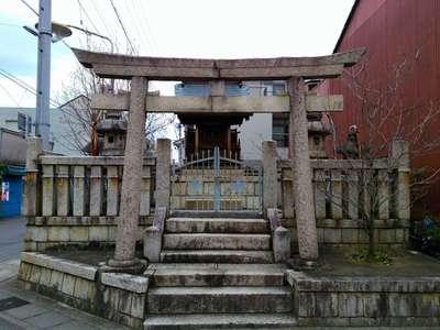 岐阜県秋葉神社の鳥居