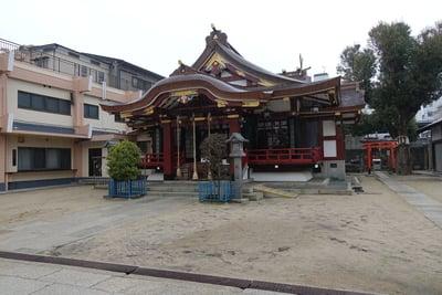 大阪府生根神社の本殿
