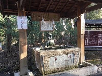 山神社の手水