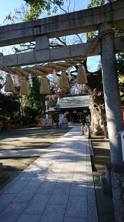 東京都新田神社の鳥居