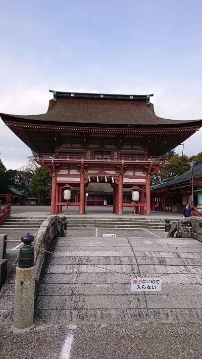愛知県津島神社の山門