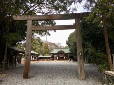 愛知県氷上姉子神社の鳥居