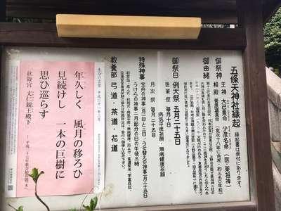 五條天神社(東京都京成上野駅) - 歴史の写真