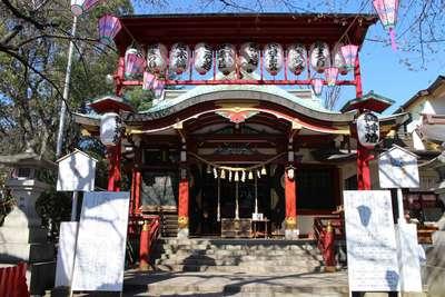 東京都居木神社の山門