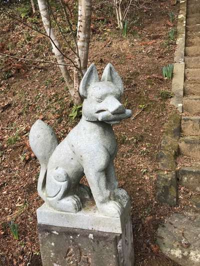 瘡守稲荷(千葉県総元駅) - 狛犬の写真
