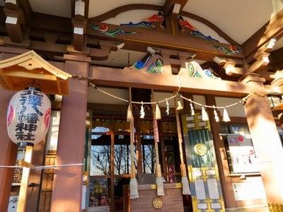 東京都北澤八幡神社の本殿