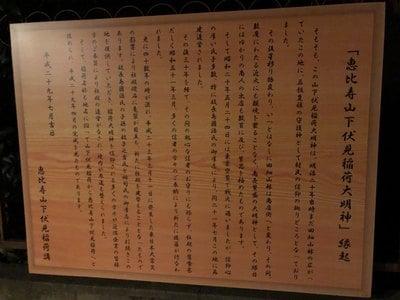 恵比寿山下伏見稲荷大明神の歴史
