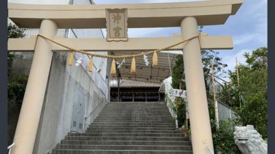 沖縄県沖宮の鳥居