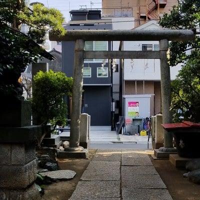 東京都石井神社の鳥居
