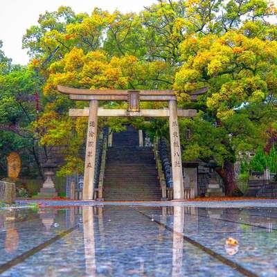 香川県宇夫階神社の鳥居