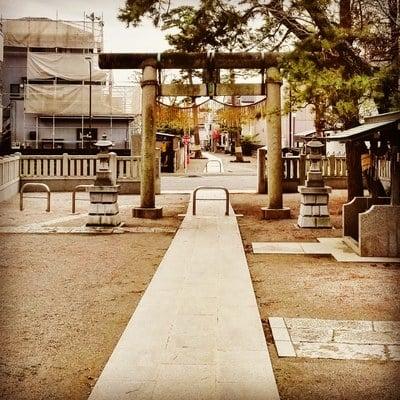 東京都鹿島神社の鳥居