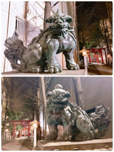 花園神社(東京都新宿三丁目駅) - 狛犬の写真