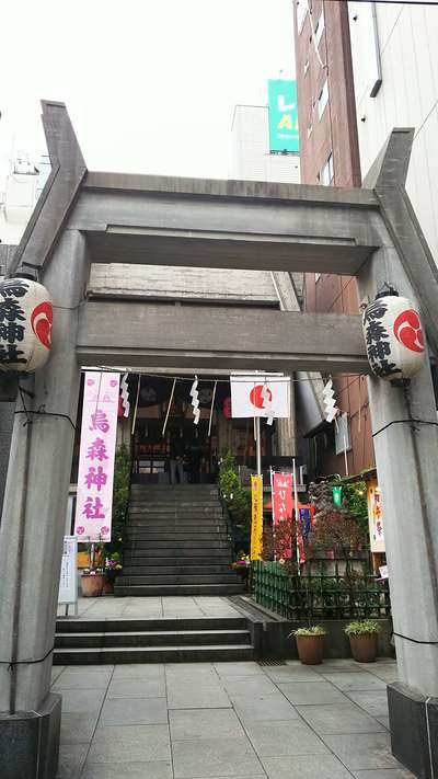 東京都烏森神社の本殿