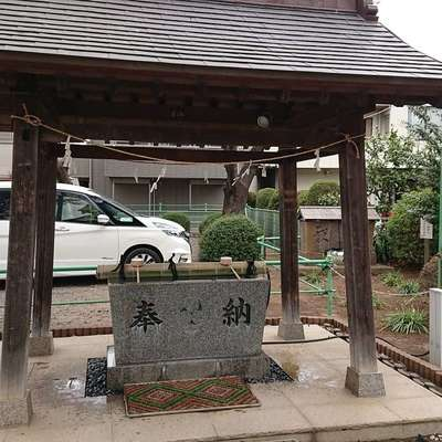 埼玉県七郷神社の手水