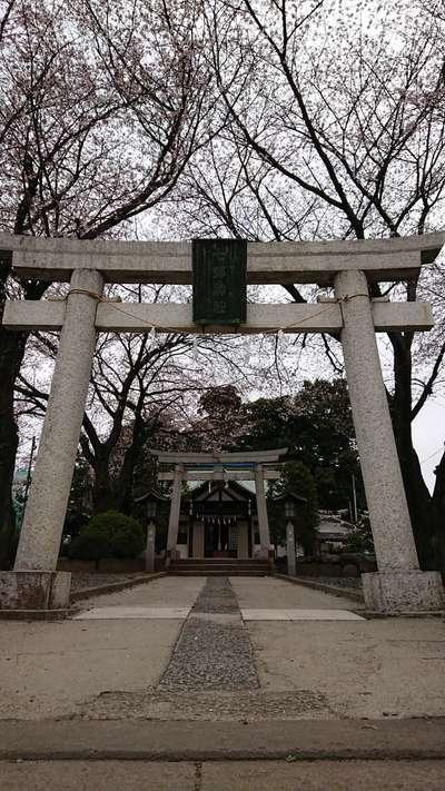 埼玉県七郷神社の鳥居