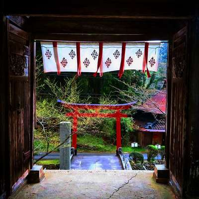 岡山県感神院木山寺の写真