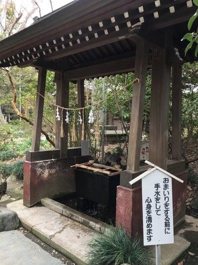 島穴神社の手水
