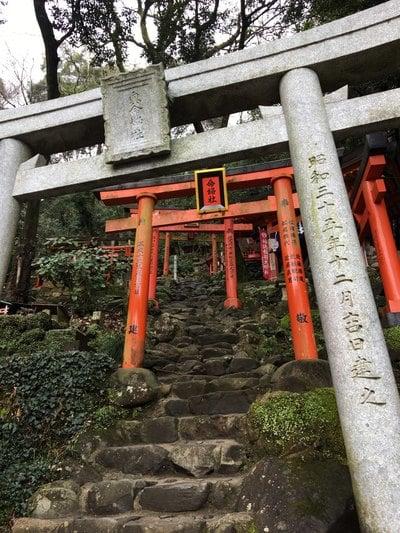 佐賀県祐徳稲荷神社の鳥居