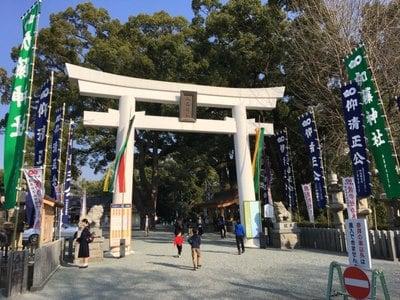 熊本県加藤神社の鳥居