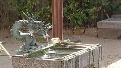 西新井氷川神社の手水
