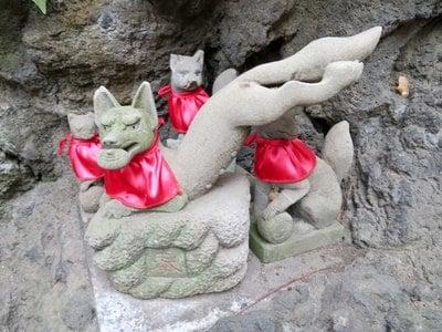 飛木稲荷神社(東京都曳舟駅) - 狛犬の写真