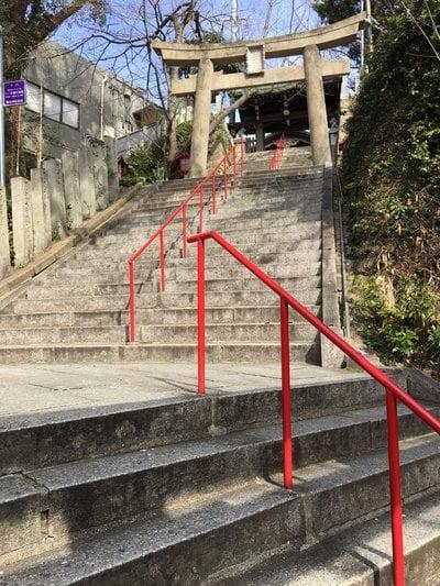 福岡県鷲尾愛宕神社の鳥居