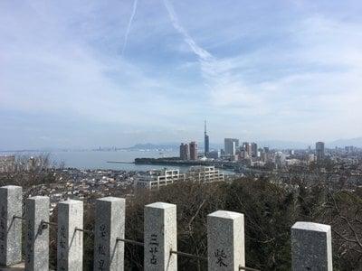 鷲尾愛宕神社の景色