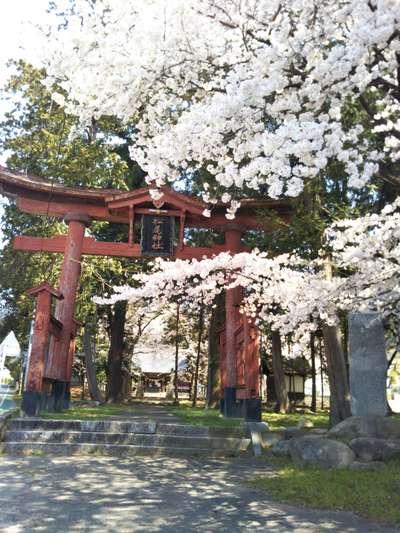 山梨県松尾神社の鳥居