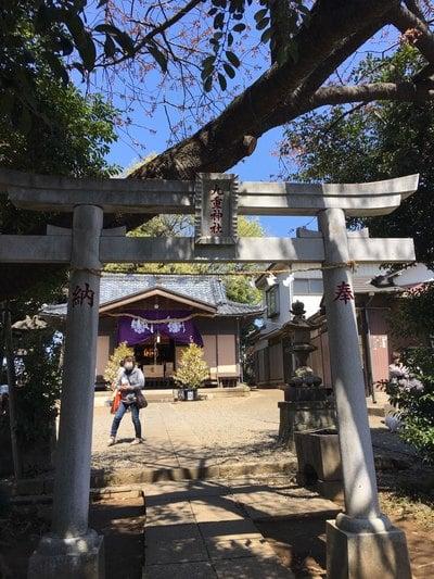 埼玉県九重神社の鳥居