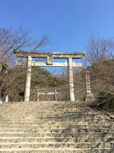 福岡県宝満宮竈門神社の鳥居