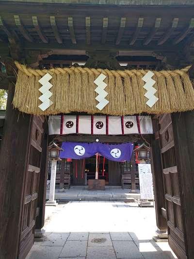福岡県久留米宗社 日吉神社の山門