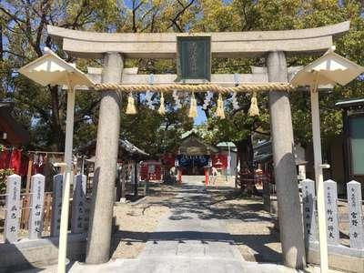 大阪府志紀長吉神社の鳥居