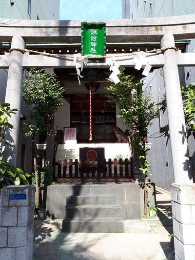 東京都諏訪神社の鳥居