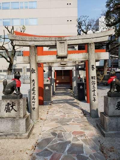 福岡県今益稲荷神社の鳥居